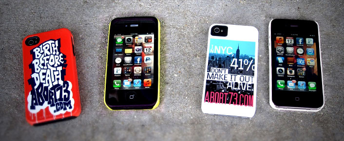 Pro-Life iPhone cases from Abort73.com
