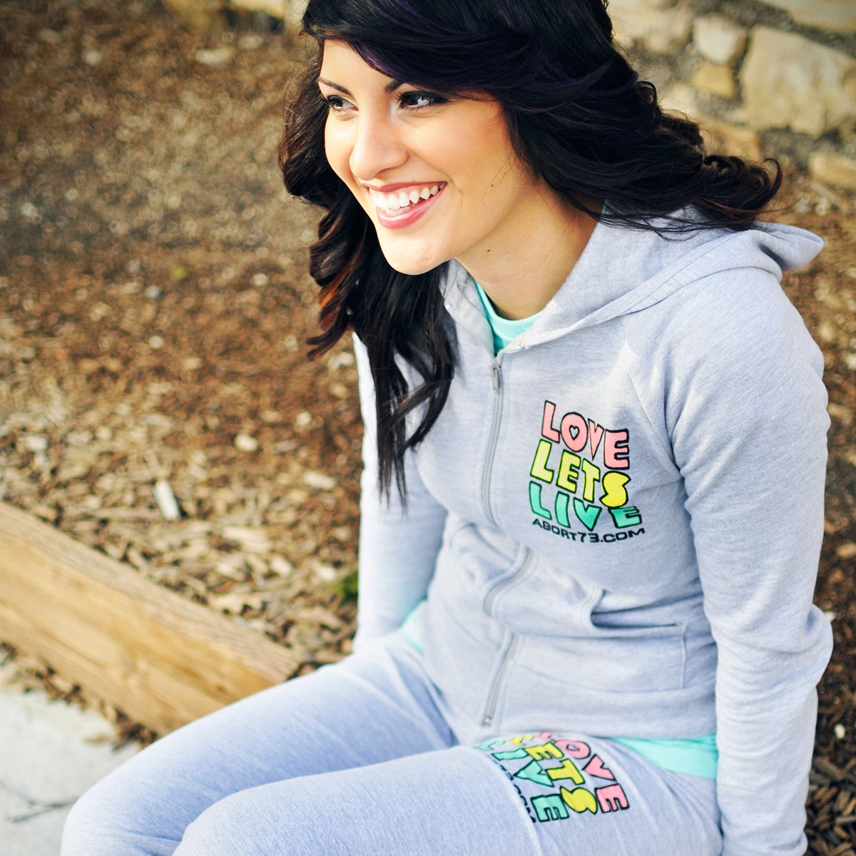 Love Lets Live (Alternate) (Abort73 Girls Fleece Zip Hoody)