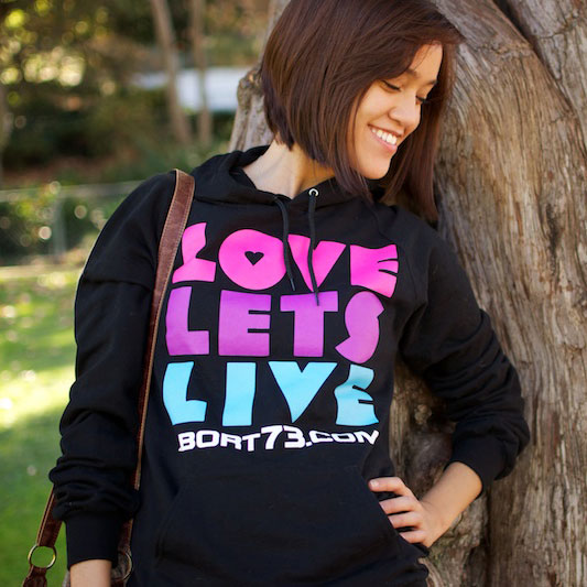 Love Lets Live (Abort73 Unisex Fleece Hoody)