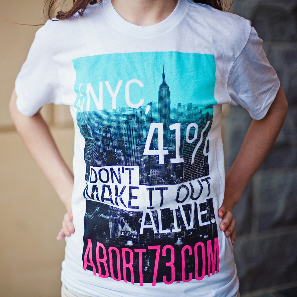 In NYC, 41% Don't Make it Out Alive (Abort73 Unisex 50/50 T-shirt)