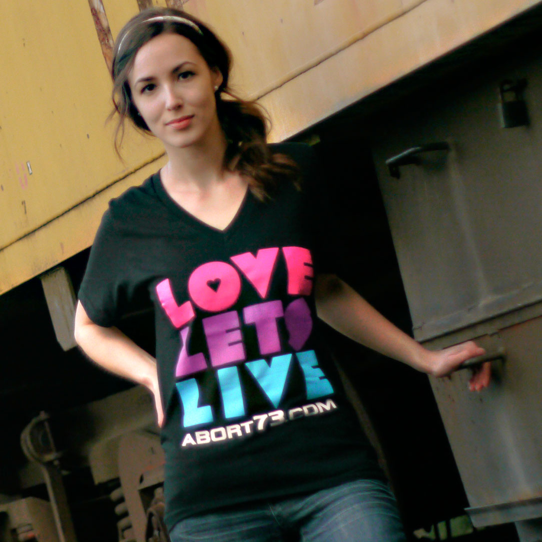 Love Lets Live (Abort73 Unisex V-neck)