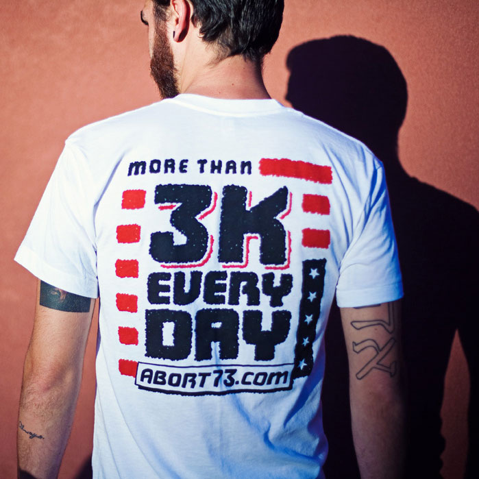 More Than 3K Every Day (Abort73 Unisex 50/50 T-shirt)