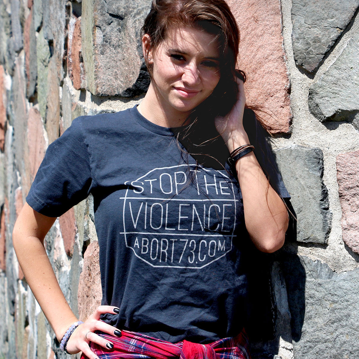 Stop the Violence (Abort73 Unisex Pocket T-shirt)