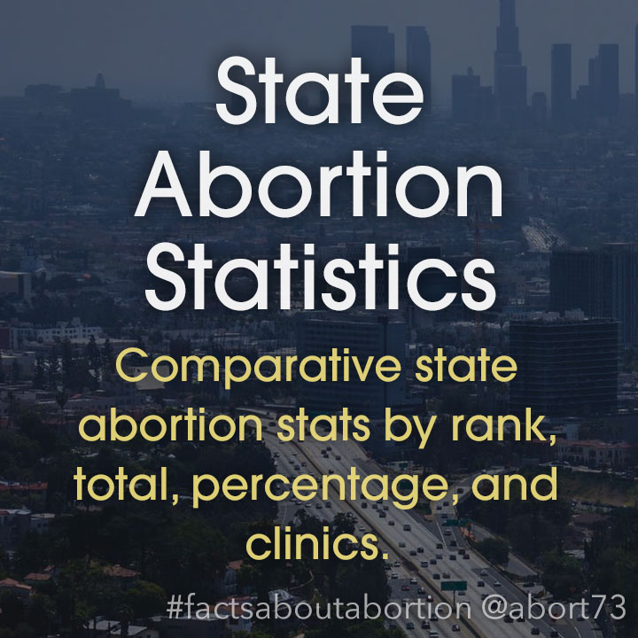 State Abortion Statistics: Comparative state abortion stats by rank, total, percentage, and clinics.